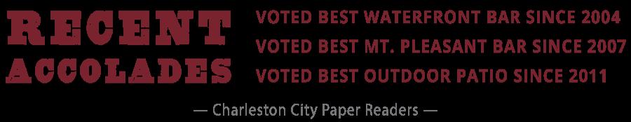 Best of Charleston Since 2004, Best Waterfront Bar, Best Mt. Pleasant Bar, Best Outdoor Patio